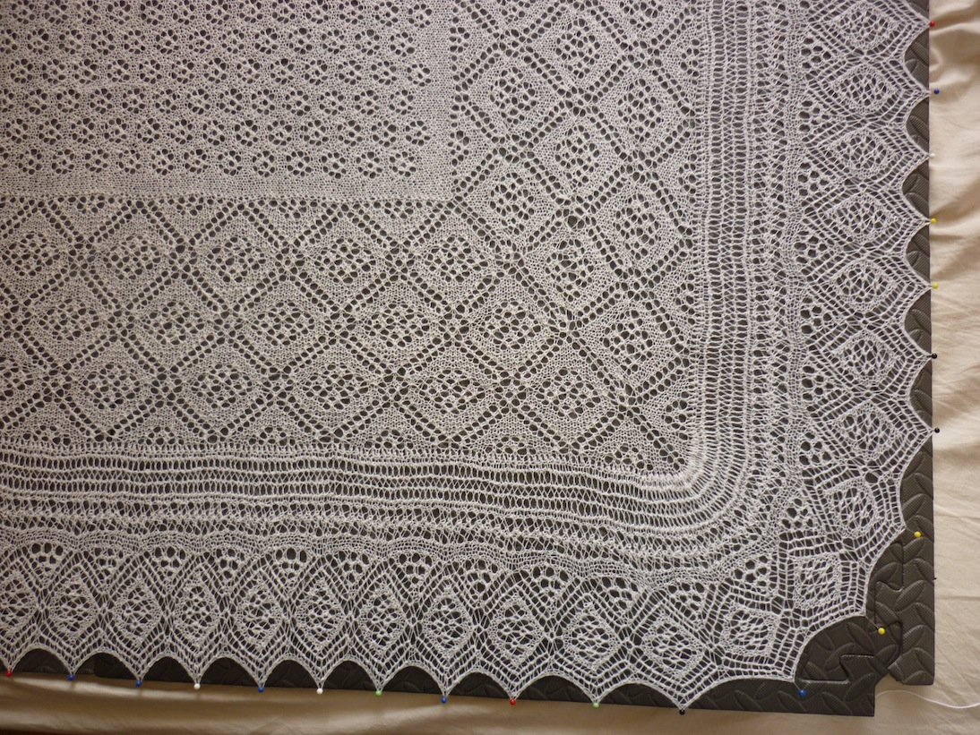 Knitted Flowers Free Patterns : A Shetland Lace Shawl for a Very Lucky Girl tomofholland