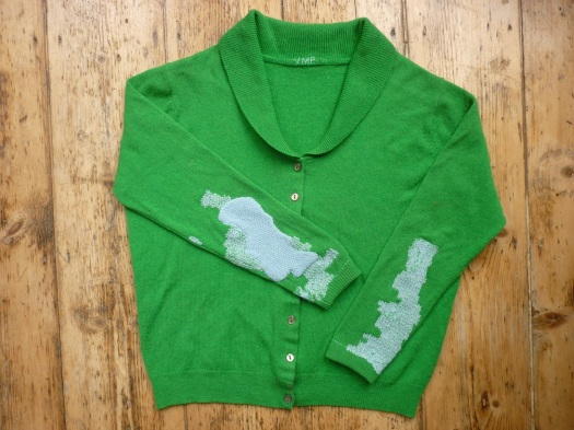 tomofholland mended cardigan