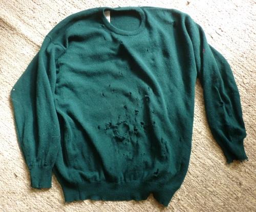 MUM+DAD Sweater moth holes
