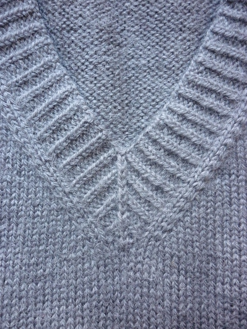 Knitting Pick Up Stitches V Neck : An Excellent Persian Grey V-Neck Jumper tomofholland