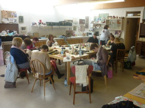 Hope and Elvis Darning Workshop
