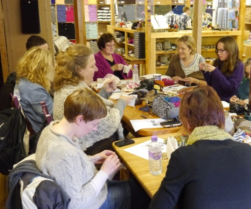 ShetlandWoolWeek Darning at Jamieson & Smith