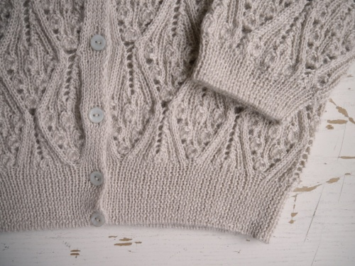 Kasha cardigan with mother of pearl buttons