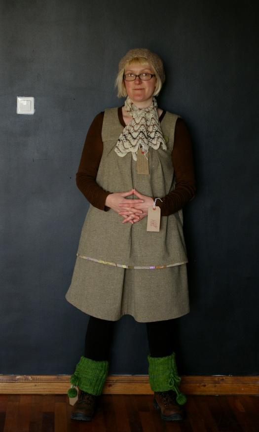 Felix in woollen outfit for her Slow Wardrobe