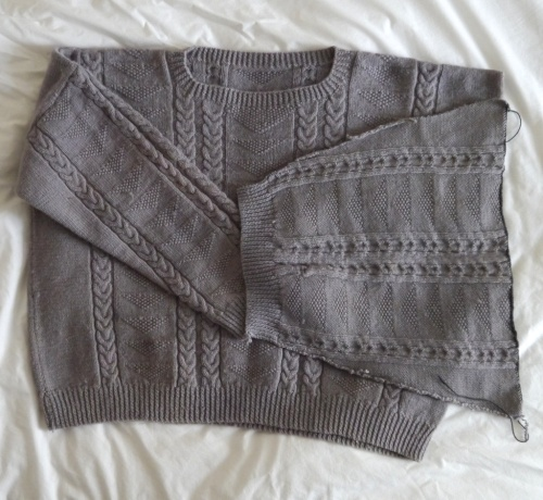 Visible Mending Programme - Jumper with hacked off sleeve
