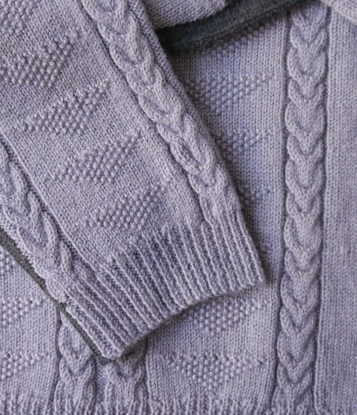 Visible Mending Programme - invisible mend on sleeve