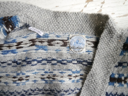 Knitting and Crochet Guild Fair Isle Cardigan Label