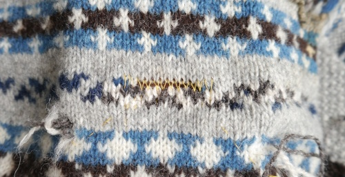 Knitting and Crochet Guild Commission Swiss Darning pt 2
