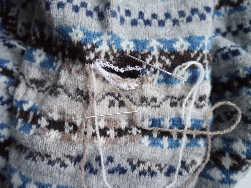 Knitting and Crochet Guild Commission Dutch darning Pt 2