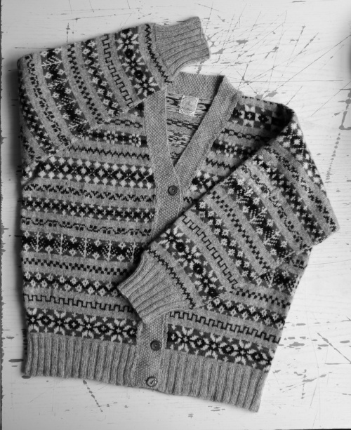 Knitting and Crochet Guild Commission in black and white