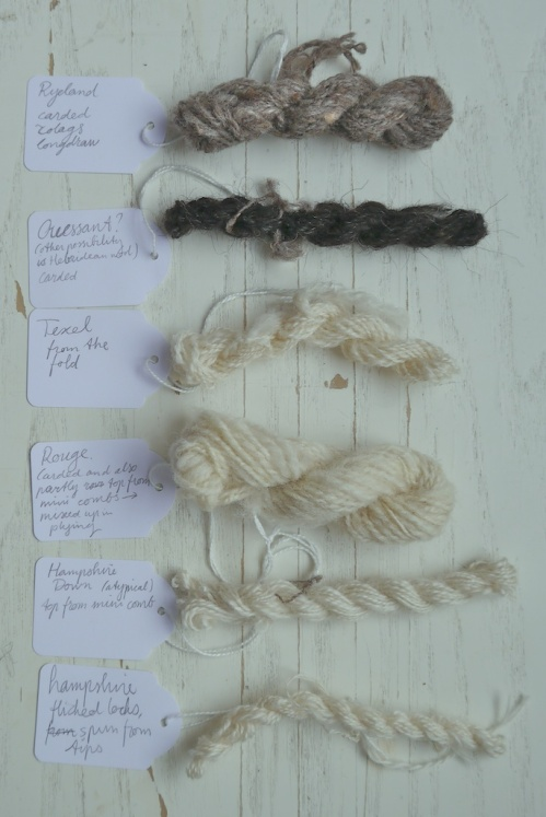 wool types class with Deb Robson samples 2