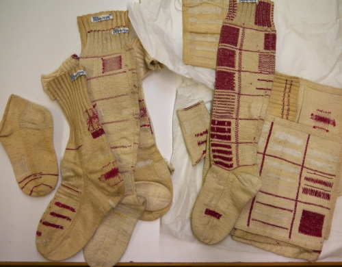 Fries Museum knitted darning samplers