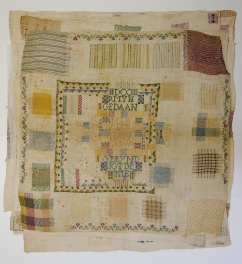Fries Museum stoplap darning sampler 1