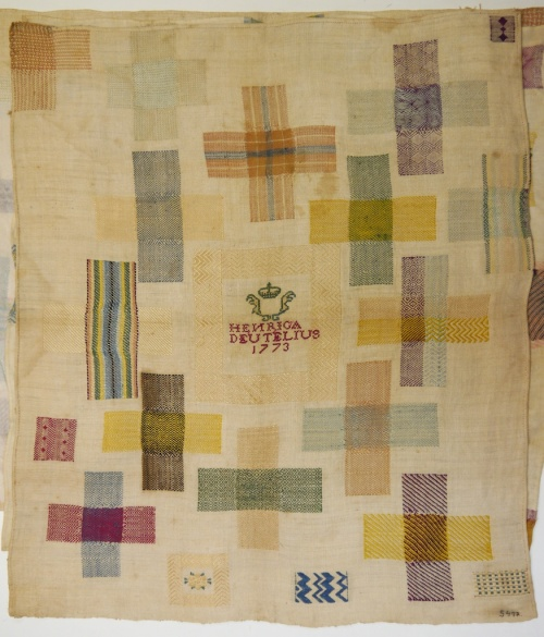Fries Museum stoplap darning sampler 7