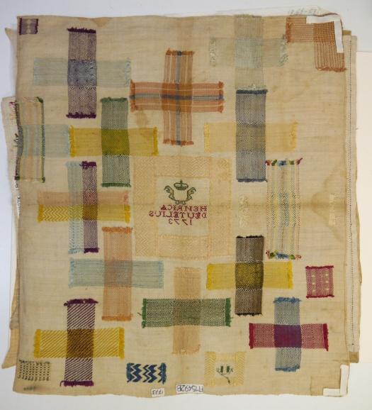 Fries Museum stoplap darning sampler 7b