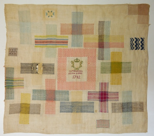 Fries Museum stoplap darning sampler 10