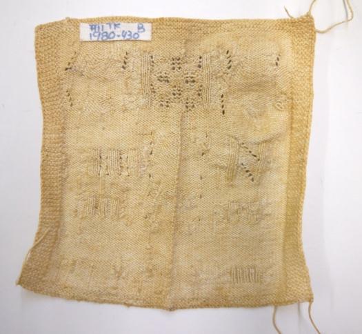Fries Museum Knitted Darning Sampler 07b