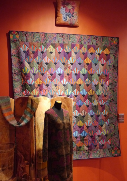 Kaffe Fasset at American Museum patchwork quilt and coat