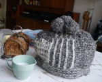 Tea Hat, toast rack, Wood's Ware England in Beryl