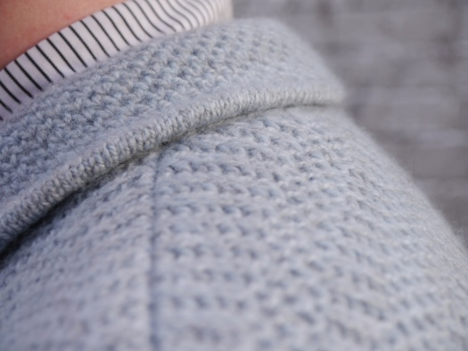 brioche sweater collar