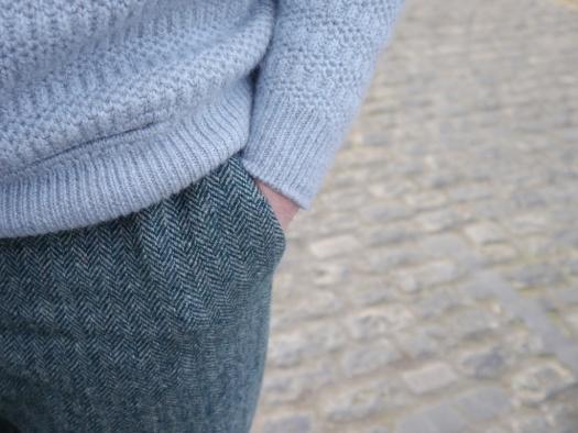 brioche sweater cuff