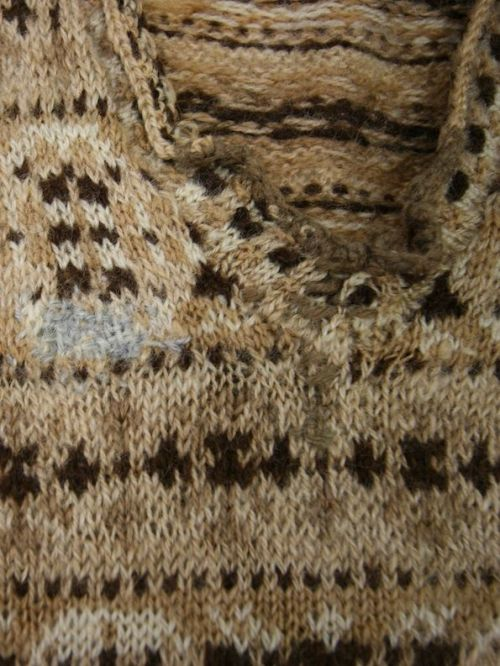 POW jumper Darned Detail Neckline
