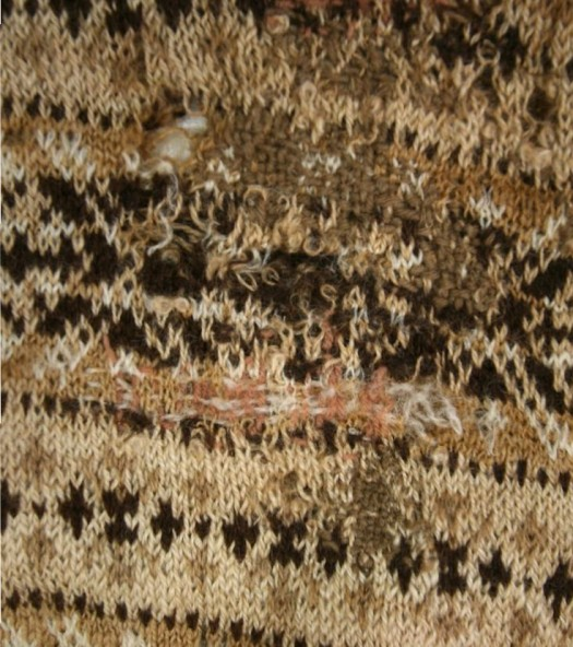 prisoner of war jumper darning detail