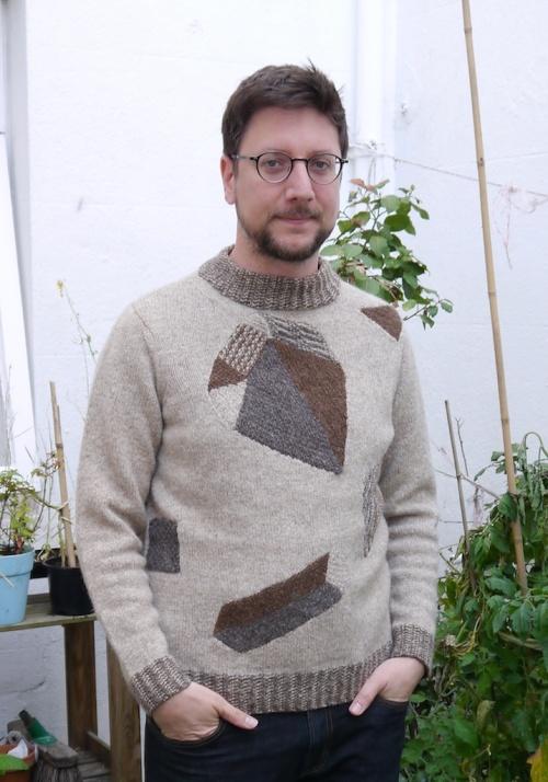 Heraldic Sweater Front View