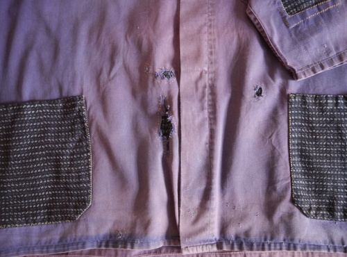 Wolf and Gypsy Visible Mending Programme Jacket After Detail