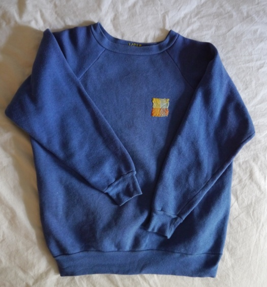 Wolf and Gypsy Visible Mending Programme Sweatshirt After