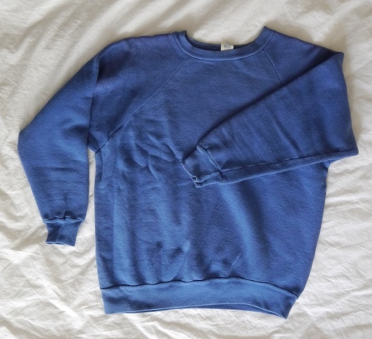 Wolf and Gypsy Visible Mending Programme Sweatshirt Before