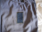 Wolf and Gypsy Visible Mending Programme Trousers After Patch Detail