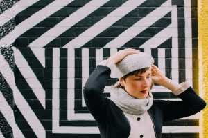 Penguin A Knit Collection, Pinglette Hat and Cowl by Anna Maltz