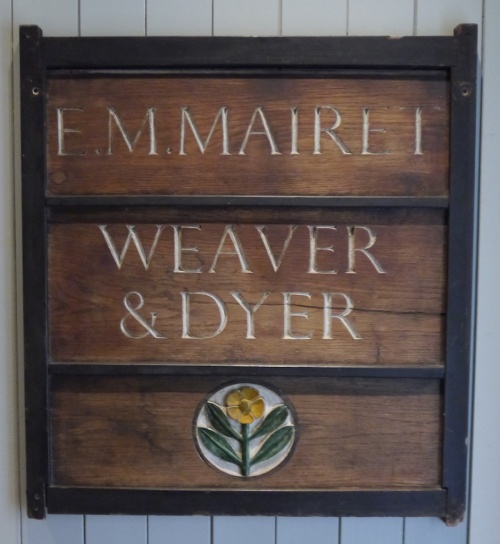 Ethel Mairet Weaver and Dyer Sign