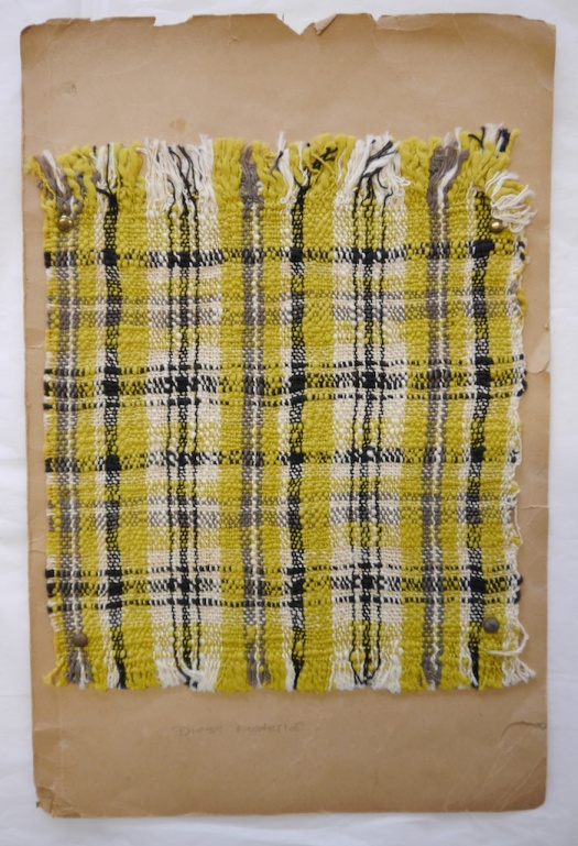 Ethel Mairet plaid sample