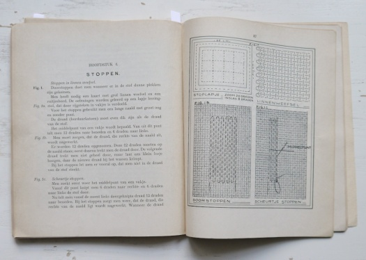Darning fabric technique