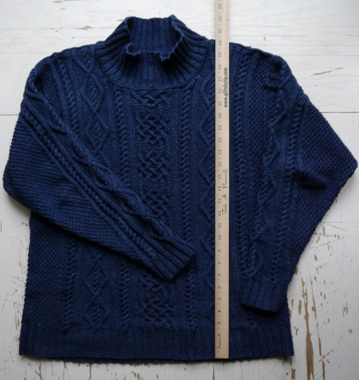 Whitby Sweater in Rowan Original Denim, post-wash