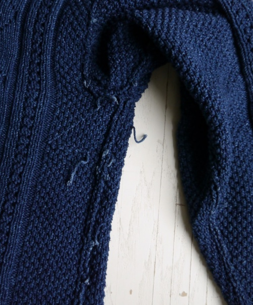 Whitby Sweater in Rowan Original Denim, tail ends inside