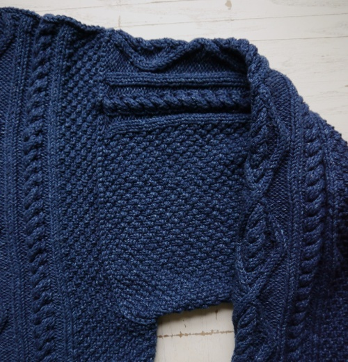 Whitby Sweater in Rowan Original Denim, 3-needle bind-off shoulder seam