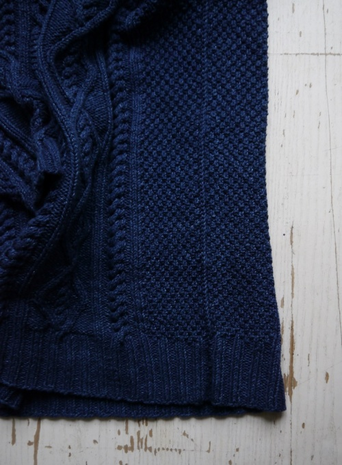 Whitby Sweater in Rowan Original Denim, 3-needle bind-off side seam