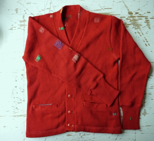 Red Cardigan VMP09 Front View