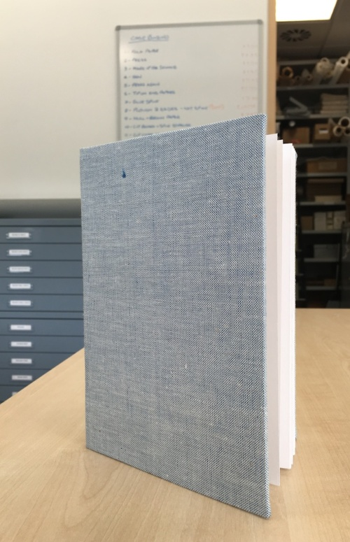 bookbinding workshop - finished book