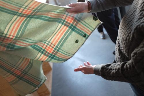 Tomofholland Visiblemending vintage blanket Textielmuseum