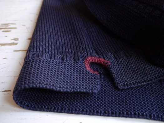 visible mending gansey - split seam repair