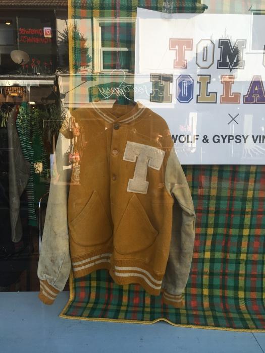 tomofholland x wolf & gypsy varsity jacket
